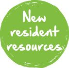 New Resident  Button Green